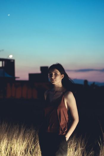 Count to five. Portrait Women Sunset Sky Posing Building Exterior Residential District