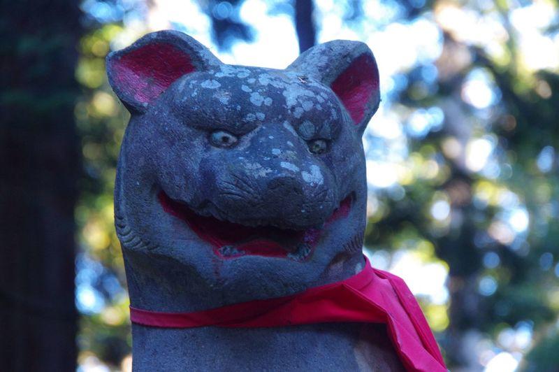 狛犬さんは狼らしい。 秩父 三峯神社 Pentax K-3
