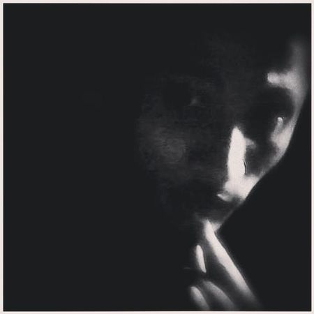 when the lights go off (: That's Me Monochrome Black And White Self Portrait