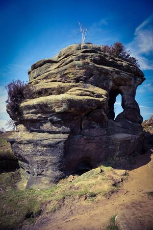 Perspectives On Nature Rock - Object Day Sky Nature Tranquility Outdoors Beauty In Nature No People Low Angle View Landscape Scenics Clear Sky