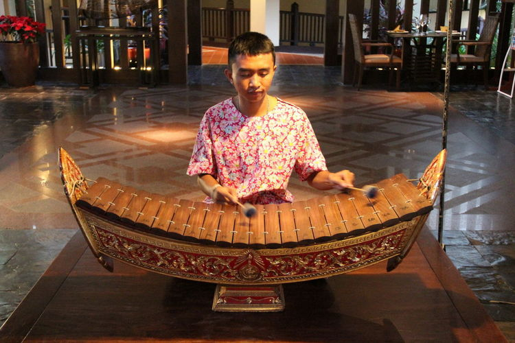 Ranard Childhood Day Full Length Indoors  One Person People Real People Sitting Thai Music Instrument