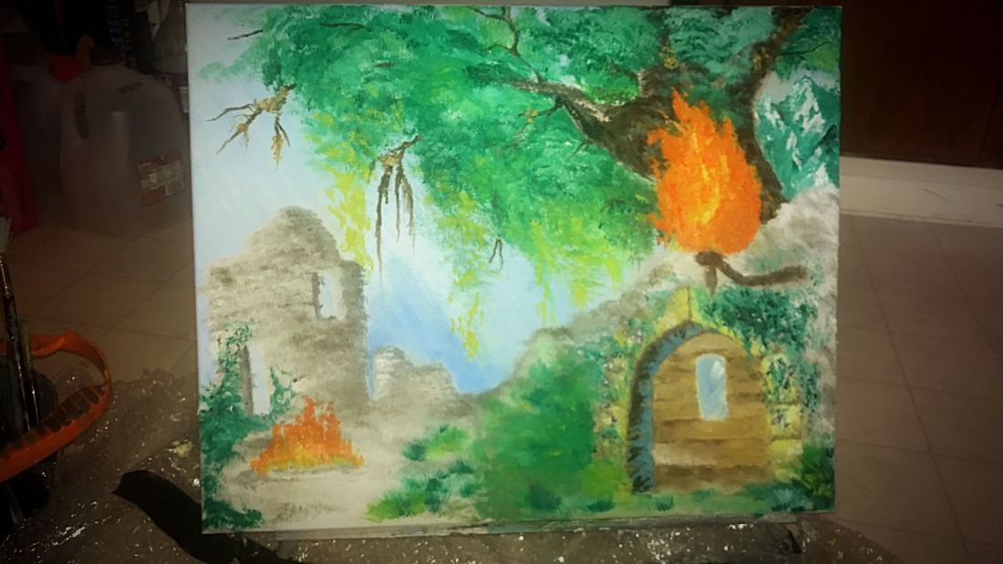 For my bfs bday he wanted me to paint him the fire shrine from dark souls. I tried. Oilpainting Paint Arts Culture And Entertainment Art Is Everywhere Art And Craft ArtWork Artist Darksouls Nature EyeEm Best Shots EyeEm Gallery EyeEmNewHere EyeEm Masterclass EyeEm Best Shots - Landscape