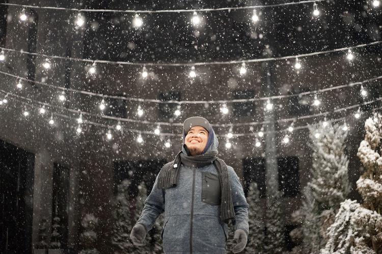 The night of snow fall