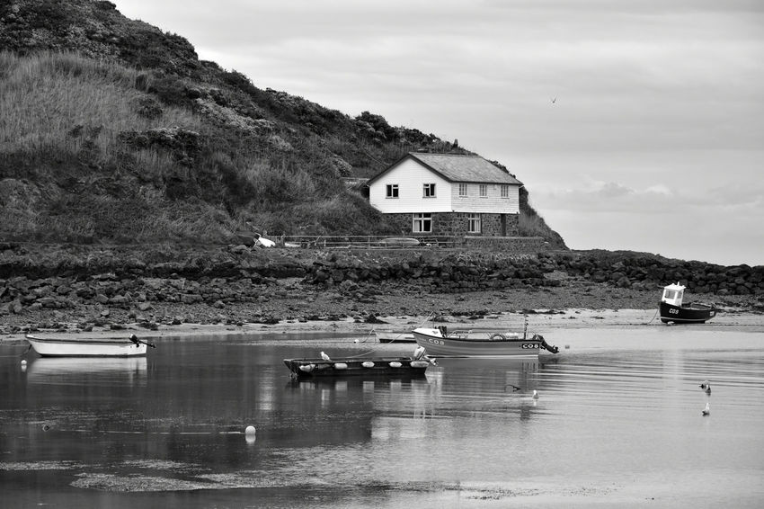 Architecture Beauty In Nature Building Exterior Built Structure Cloud - Sky Day Lake Moored Mountain Nature Nautical Vessel No People North Wales Outdoors Porthdinllaen Beach Reflection Scenics Sky Tranquility Transportation Water Waterfront