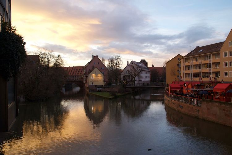 nuremberg at sunset Architecture Historic Nuremberg,germany,nikon,sunset,city River Water