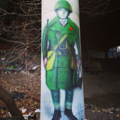 Lest we forget Mastrocola Spraypaint Soldier