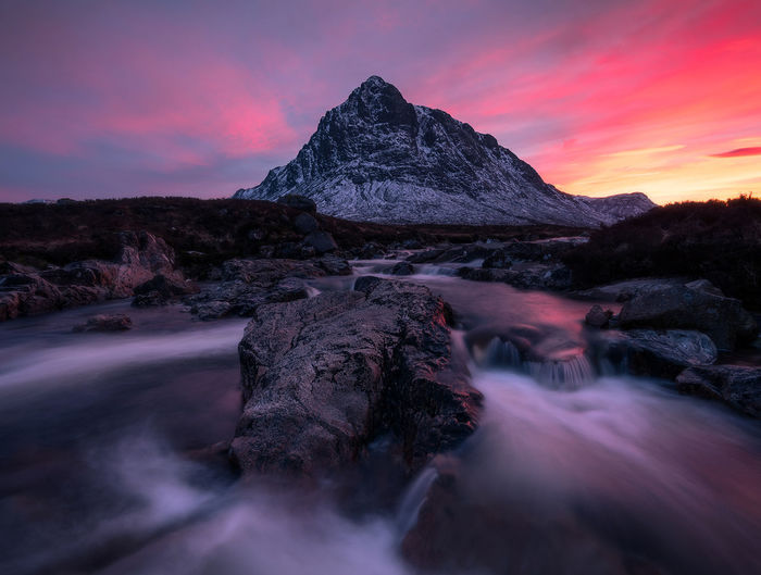 Landscape_Collection Landscape EyeEmNewHere EyeEm Best Shots Sunset Beauty In Nature EyeEm Masterclass Mountain_collection Scotland 💕 Scotland Longexposure Glencoe Adventure Sunset_captures Glencoe Scotland