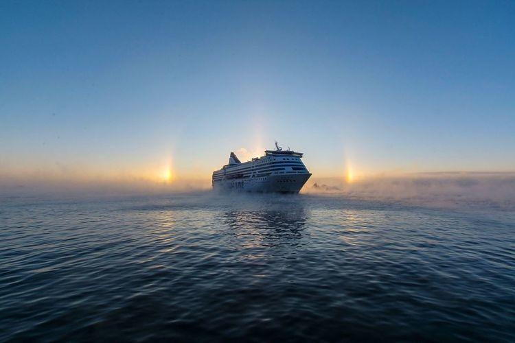 Baltic Sea Baltic Sea Winter Baltic Ship Ferry Water Sea Sunset Transportation Mode Of Transport Nature Sailing First Eyeem Photo EyeEmNewHere