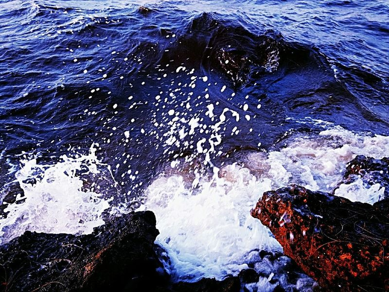 Water Sea Backgrounds Full Frame High Angle View Wave Close-up Rushing Rippled Surf Shore Tide Crashing Power In Nature Rocky Coastline Waterfront Water Surface