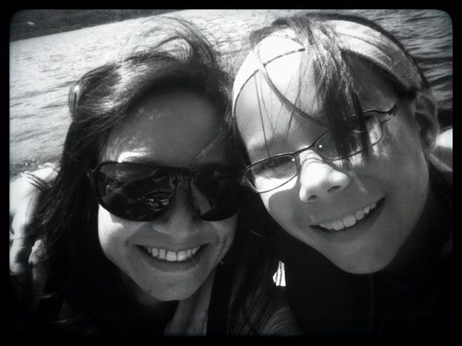 me and my girl Blackandwhite Boating Mother & Daughter