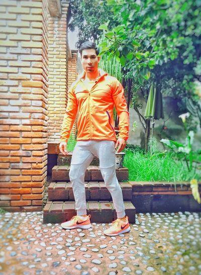 Running time. That's Me Sneakers Good Morning! Raining Day Trees Orange