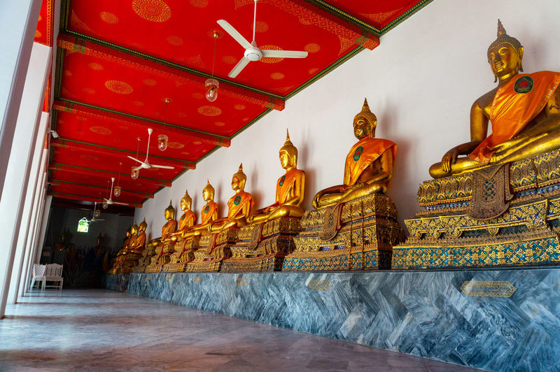 Wat Pho Buddha Buddha Wat Pho Thailand Statue Place Of Worship Gold Religion Spirituality Gold Colored Sculpture Architecture Built Structure Historic Palace Ancient Civilization