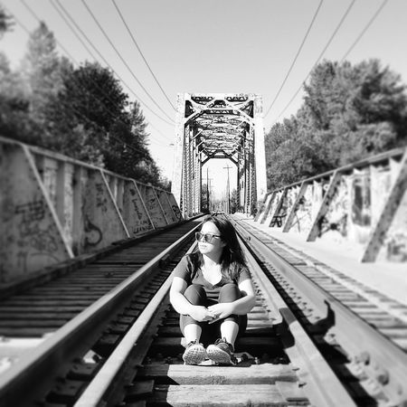Train Bridge Vedder River Blackandwhite Photography
