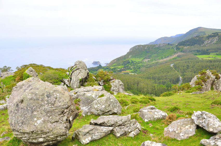 coast of death in galicia spain SPAIN Coast Of Death Galicia Spain Beauty In Nature Cliff Coast Of Death In Galicia Spain Day Grass Landscape Mountain Nature No People Outdoors Physical Geography Rock - Object Scenics Sea Sky Tranquil Scene Tranquility Water