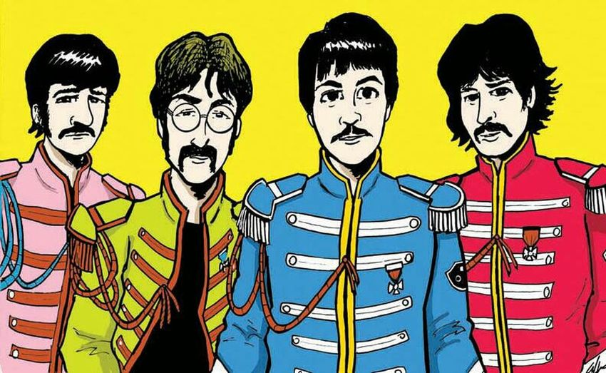 we're Sgt. Pepper's Lonely Heart Club Band.. we hope you'll enjoy the show... Home Of The Beatles John Lennon George Harrison Paul Mccartney Ringo Starr The Beatles