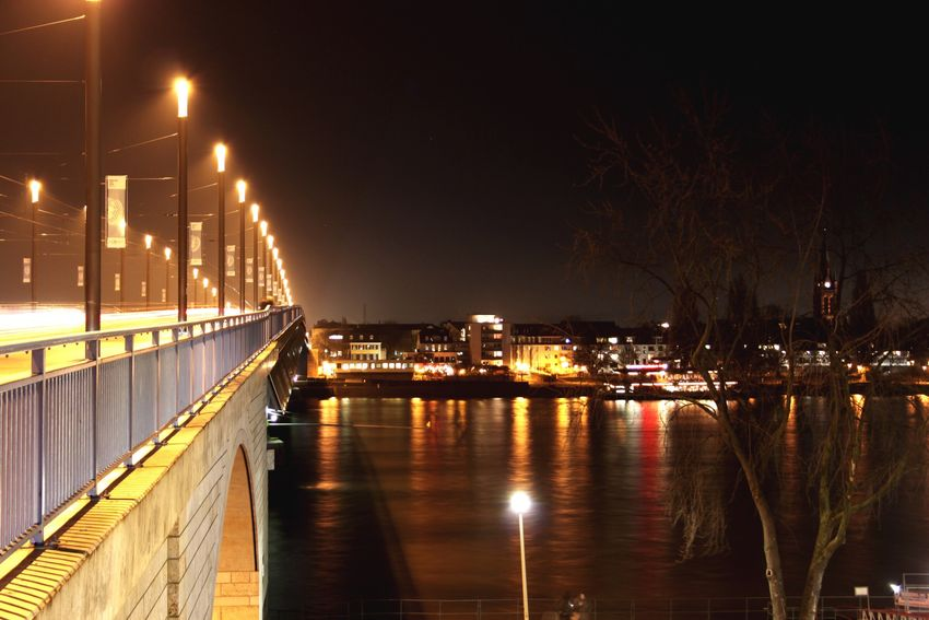 Check This Out That's Me Night Lights Light Streetphotography Nightphotography Long Exposure Bonn Urbanphotography Lightrail Bridge Night City Lights