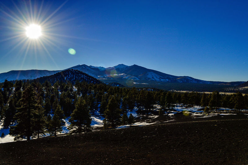 Showcase: February Mountain View San Francisco Peaks Volcano Crater Lenox Crater Beautiful Nature Natural Park Cinder Mound Winter Arizona Nikon D3200 Outdoor Photography