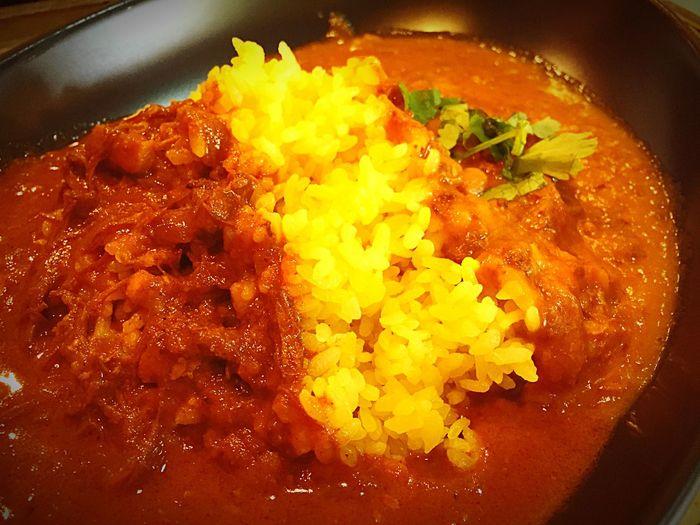 渋谷最後のランチはこれにしました。カリガリ&インドカレーあいがけ830円 カレー ガリガリ Curry 渋谷
