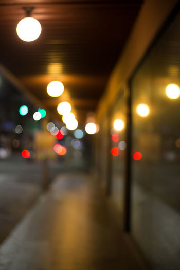 Architecture Background Bokeh Bokeh Ceiling City Defocused Direction Electric Light Glowing Illuminated Indoors  Land Vehicle Light Light - Natural Phenomenon Lighting Equipment Mode Of Transportation Motor Vehicle Night No People Road Street The Way Forward Transportation