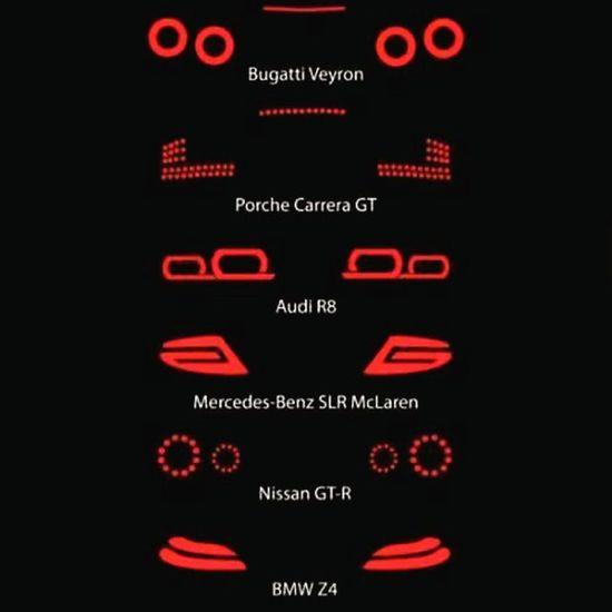 Backlights '⤵ Bugatti Veyron Porsche Carrera GT Audi i R8 Mercedesbenz SLR McLaren Bmw Z4