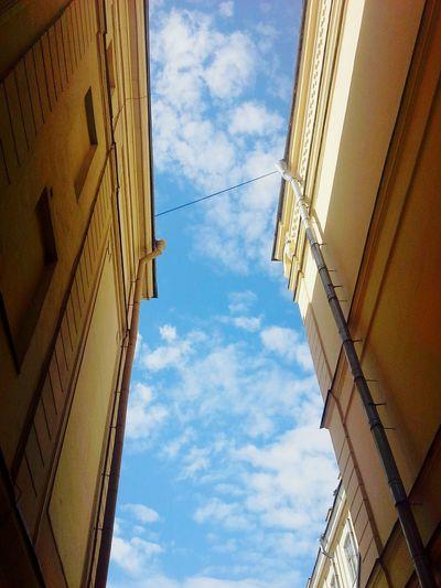 OpenEdit Good Morning World! Goodweather GoodTimes Saint Petersburg Sky_painter Sun And Clouds Beautiful Highhouse Yellowandblue