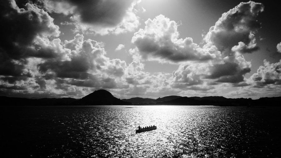 Sea Blackandwhite Sunset by by summer