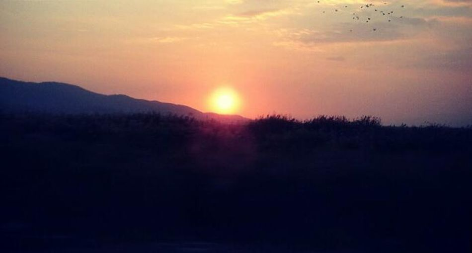 Behind the mountains. Mountains Sunset Skyviewers Turkey ♡