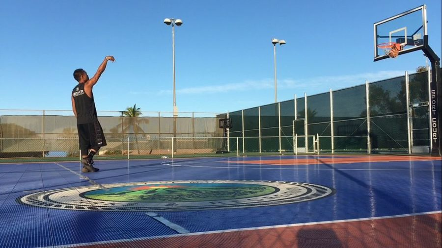 """Count It"" Ball Is Life Basketball Never Stops Swish  Long Distance  3 Pointer Get Buckets Lahaina Lahaina Civic Center Basketball Outdoor Courts Sport"