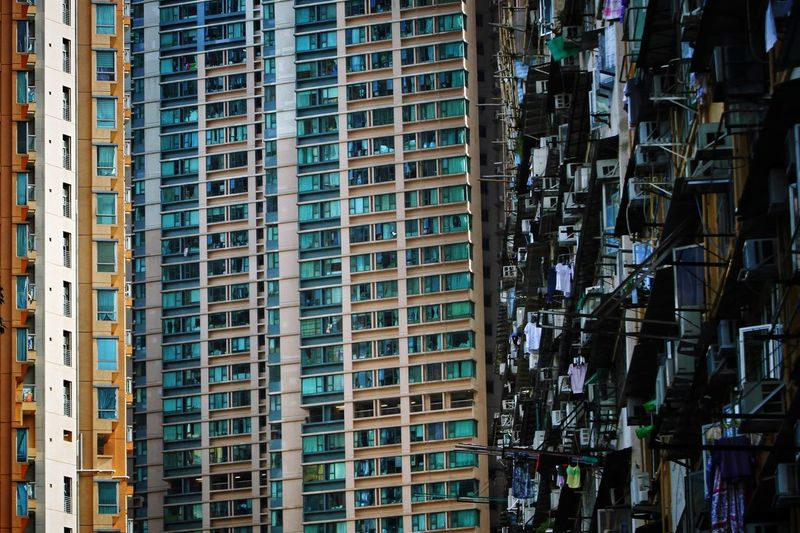 New Meets Old NostalgicHongKong TeddyKwok Hong Kong Architecture Hong Kong Concrete Jungle Lessismore City Cityscape Skyscraper Modern Apartment Full Frame Urban Skyline Business Finance And Industry Ghetto Architecture Residential Structure Residential District Residential Building Crowded Tall - High Exterior High Rise