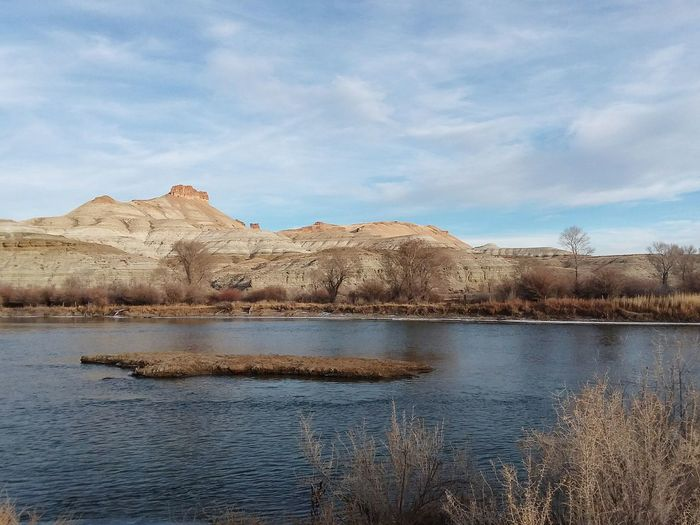 Watching the seasons last days Green River Wyoming Landscape Wyoming River Season  Beauty In Nature Tranquility Mountain No People Scenics Cloud - Sky Day Rural Scene Tree Mammal