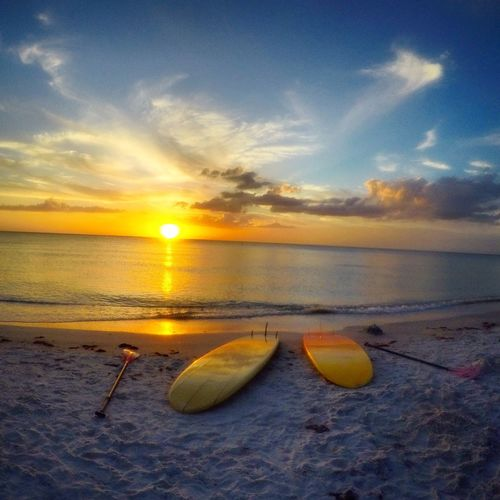 Backpacking Beach Beauty In Nature Cloud - Sky Day Florida Horizon Over Water Idyllic Nature Nautical Vessel No People Outdoors Outrigger Paddleboard Scenics Sea Sky Standpaddleboarding Sunset Sunset_collection Surf Surfing Tranquil Scene Tranquility EyeEmNewHere