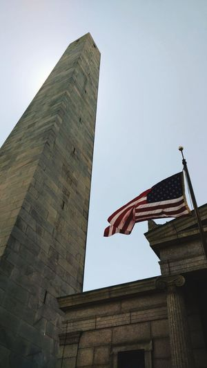Architecture Travel Destinations Flag History Built Structure Patriotism Low Angle View Monument Day Sky No People Outdoors Politics And Government