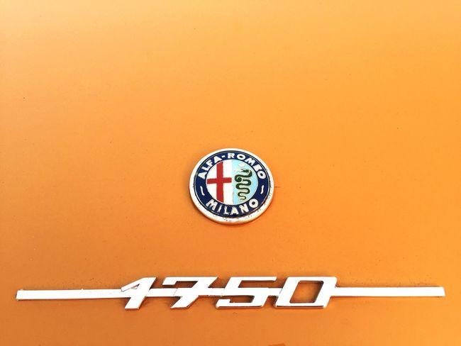 Alfaromeo Car Italy Oldtimer Classic Car Belgium Yellow Milano Quadrifoglio