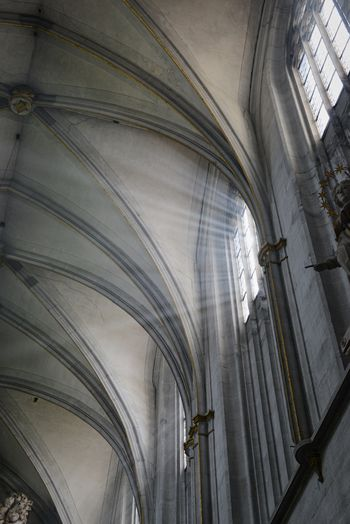 Arch Architectural Column Architecture Belief Building Built Structure Gothic Style History Indoors  Low Angle View No People Place Of Worship Religion Spirituality Sunbeam Sunbeams The Past