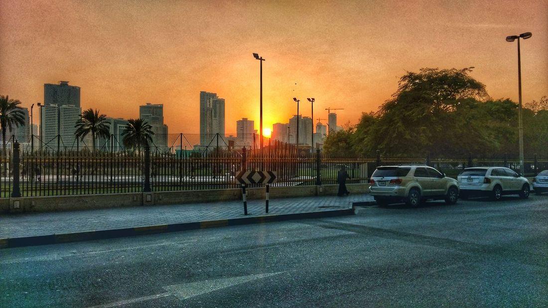 Sunset in Sharjah Dusk Skyline Htcphotography Snapseed HTCDesireEye Sharjah Evening Sky Walking Around The City  First Eyeem Photo
