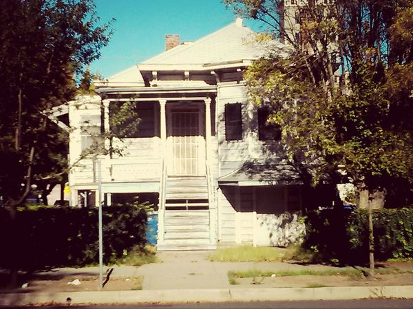 An aging house refects days gone by near Downtown Sacramento . 10.24.14