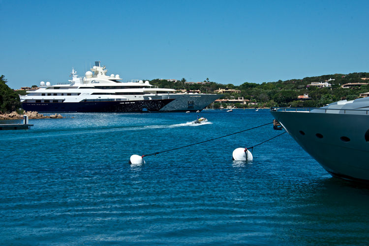 Yachts in Porto Cervo Harbor Mooring Buoys Porto Cervo, Sardinia Blue Boat Clear Sky Day Mode Of Transport Moored Nature Nautical Vessel Outdoors Sea Summer Transportation Travel Destinations Vip Water Yacht Yachting