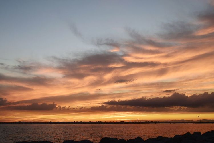 Sunset Sea Dramatic Sky Scenics Horizon Over Water Cloud - Sky Nature Beauty In Nature Landscape Cloudscape Outdoors Water An Eye For Travel