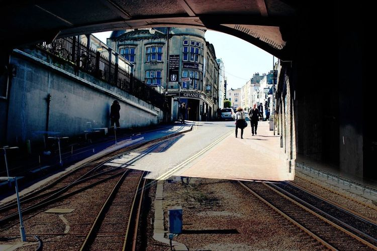 The streets of Brighton but with a twist Street Photography Tunnel Train Tracks