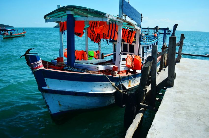 Boat to Nature beach on Koh Rong island Koh Rong Sihanoukville Cambodia Backpacking