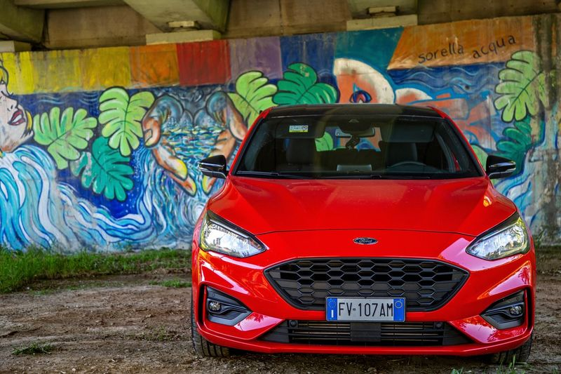 Murals Mylove Italy Secret Places Art is Everywhere Mural Scenics Light And Shadow Red Canon5Dmk3 Sportcar Car Fordfocus Ford Graffiti Multi Colored Art And Craft Creativity Transportation Mode Of Transportation Street Art Outdoors Day Motor Vehicle No People Wall - Building Feature