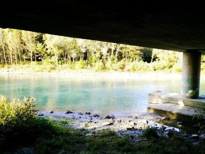 Albosaggia Valtellina Adda River Bridge Nature Landscape