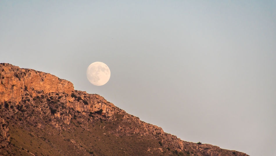 Krull&Krull Images Mallorca Full Moon Landscape_Collection The Week On EyeEm Astronomy Beauty In Nature Beauty In Nature Clear Sky Day Full Landscape Moon Mountain Nature No People Outdoors Scenics Sky Son Serra De Marina Sunset Tranquil Scene Tranquility Been There.