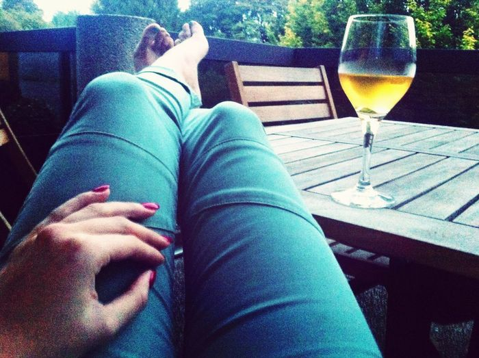 Waiting my boyfriend White Wine Enjoying Life
