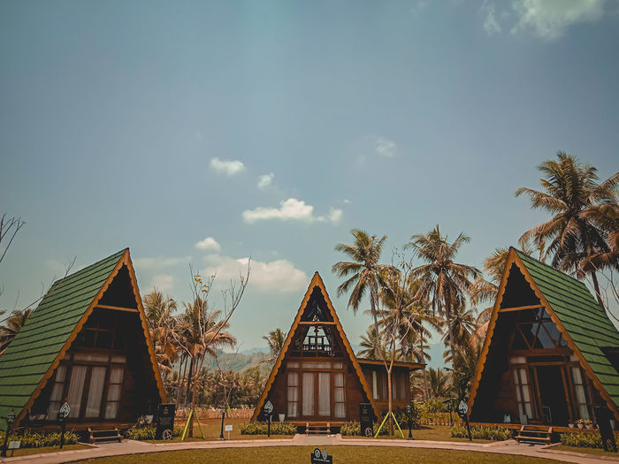 The economic center of the Tegalarum village PT angkasa pura II (persero) Borobudur Telgalarum Balkondes Sakapitu Magelang INDONESIA Central Java Vintage Vscocam OPPO Cameraphone EyeEm Selects Tree City Triangle Shape Business Finance And Industry Sky Architecture Built Structure