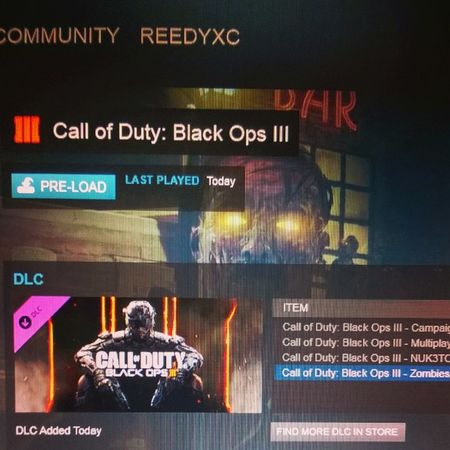 Blackops3 PC PreLoad! GRAB A COPY AT KINGUIN.NET/R/REEDY FOR £27!! PCGaming Pcmasterrace CallOfDuty COD Gaming