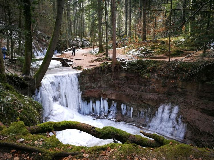 Hörschbachwasserfall Wasserfall Winter Wald Waldspaziergang Forest EyeEmNewHere EyeEm Nature Lover Eye4photography  Landscape Ice Frozen Sky Flowing Water Rock Formation Falling Water Natural Landmark Geology Rocky Mountains Stream - Flowing Water Canyon