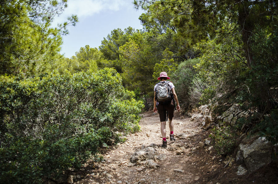 Hiking on Sa Dragonera, Mallorca Boots Dragonera Hiking Lizard Mallorca Mallorca (Spain) Nature Path Rearview Wanderlust Woman Activity Adventure Backpack Day Explore Forest Full Length Green Color Growth Hiking Island Land Landscape Leisure Activity Lifestyles Light And Shadow Mallorcaphotographer Nature One Person Outdoors Plant Real People Rear View Rucksack Sadragonera Summer Sun Tourism Trail Travel Destinations Tree Walking The Traveler - 2018 EyeEm Awards