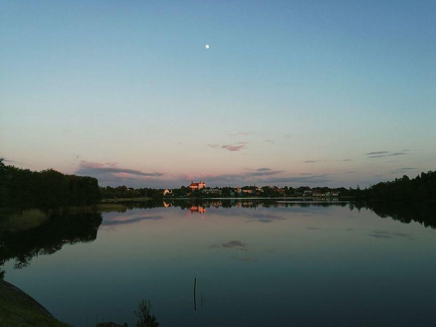 Lake Reflection City Lithuania Trakai Panorama View