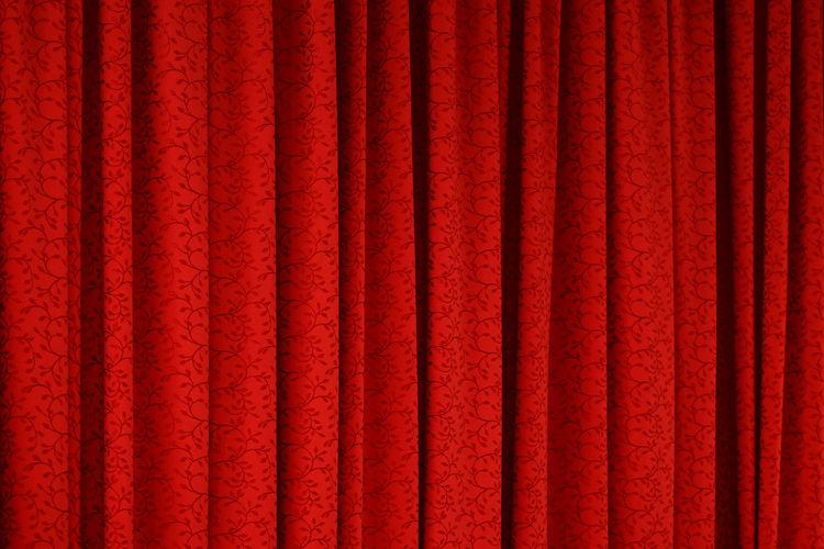 Full frame shot of red fabric